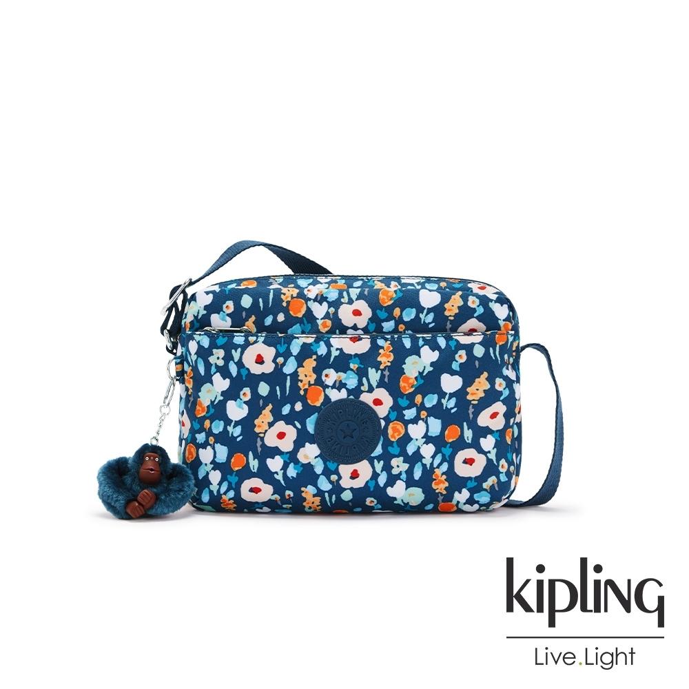 Kipling 牧場彩繪風格雙層拉鍊斜背包-DAMIAN