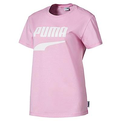 PUMA-女性流行系列Downtown短袖T恤-淡淺粉-歐規