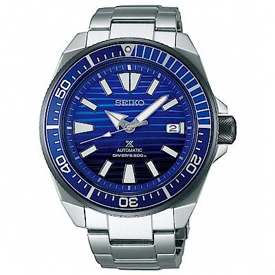 SEIKO精工 Prospex 海洋武士潛水機械錶(SRPC93J1)-藍/43.8mm