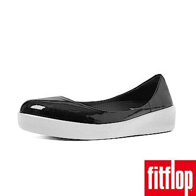 FitFlop PATENT芭蕾舞鞋黑色