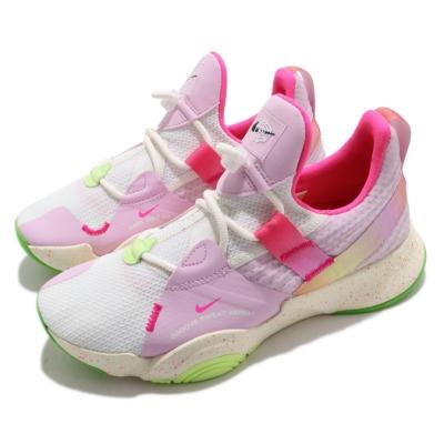 Nike 訓練鞋 SuperRep Groove 運動 女鞋 襪套 輕量 舒適 健身房 球鞋 穿搭 白 粉 DD8485161