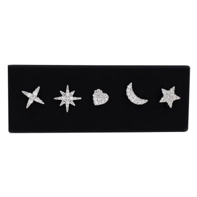 apm MONACO法國精品珠寶 閃耀多款造型銀色耳針式耳環