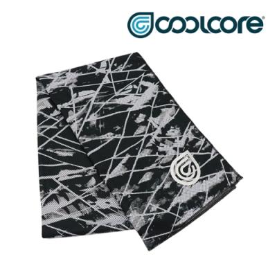 【COOLCORE】 CHILL SPORT 涼感運動巾 黑色刻痕 BLACK SCRATCH