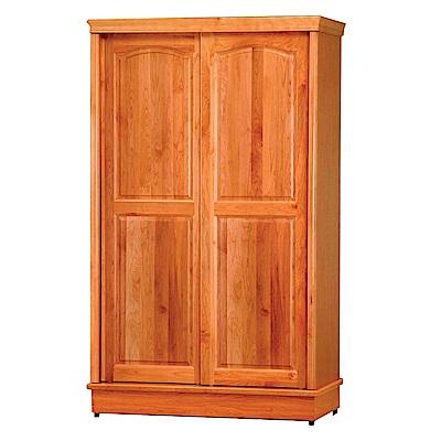 綠活居 哥斯4.2尺實木推門櫃/收納櫃(單抽屜+吊衣桿)-125x62x206cm-免組