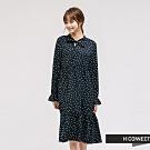 H:CONNECT 韓國品牌 女裝 - 氣質甜美圓點洋裝 - 黑