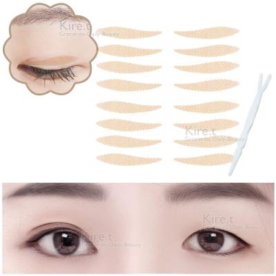 無痕 網狀蕾絲 雙眼皮貼 眼線貼-眼皮下垂專用 尾部拉提 超值80枚入 kiret