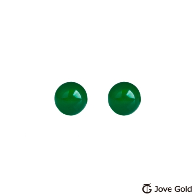 Jove Gold 漾金飾 純淨黃金/綠碼腦耳環