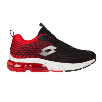 LOTTO 男休閒運動鞋-反光 慢跑 路跑 氣墊 LT1AMR3102 黑紅銀