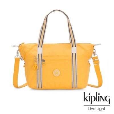 Kipling 冒險活力黃手提側背包-ART