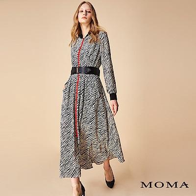 MOMA 斑馬紋兩穿式雪紡洋裝