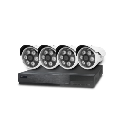 全視線 台灣製造施工套餐 8路監控主機+4支紅外線LED攝影機+2TB硬碟