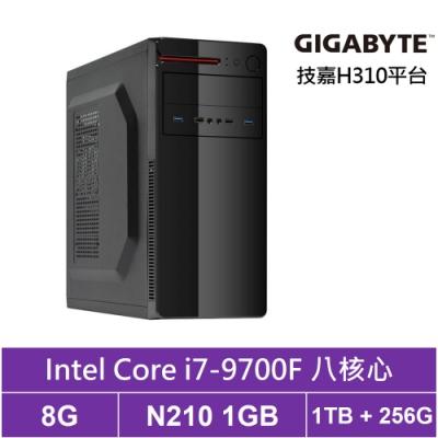技嘉H310平台[東海神兵]i7八核N210獨顯電玩機