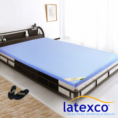 LooCa 美國抗菌5cm latexco乳膠床墊(單人3尺)