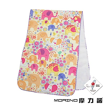 MORINO摩力諾 超細纖維滿版印花毛巾/擦髮巾-晶漾大象