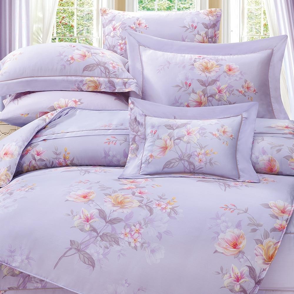岱思夢   雙人  60支八件式天絲床罩組  夏洛特-紫