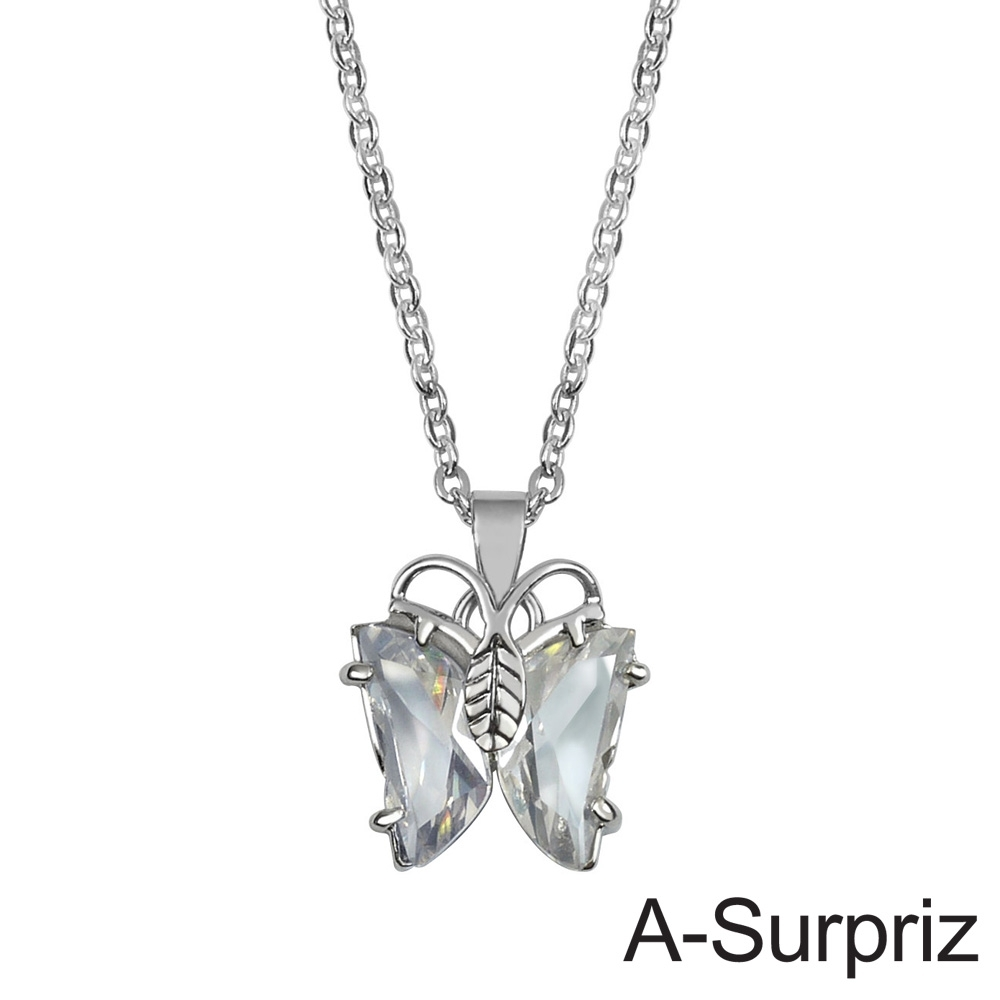 A-Surpriz 小蝶飛舞晶鑽項鍊