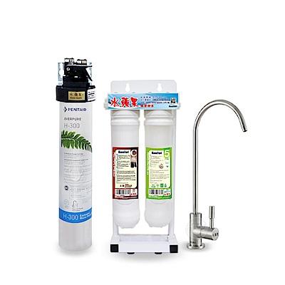★限時贈送前置濾心2支★ 水蘋果公司貨 EVERPURE QL3-H300 便捷式三道淨水器