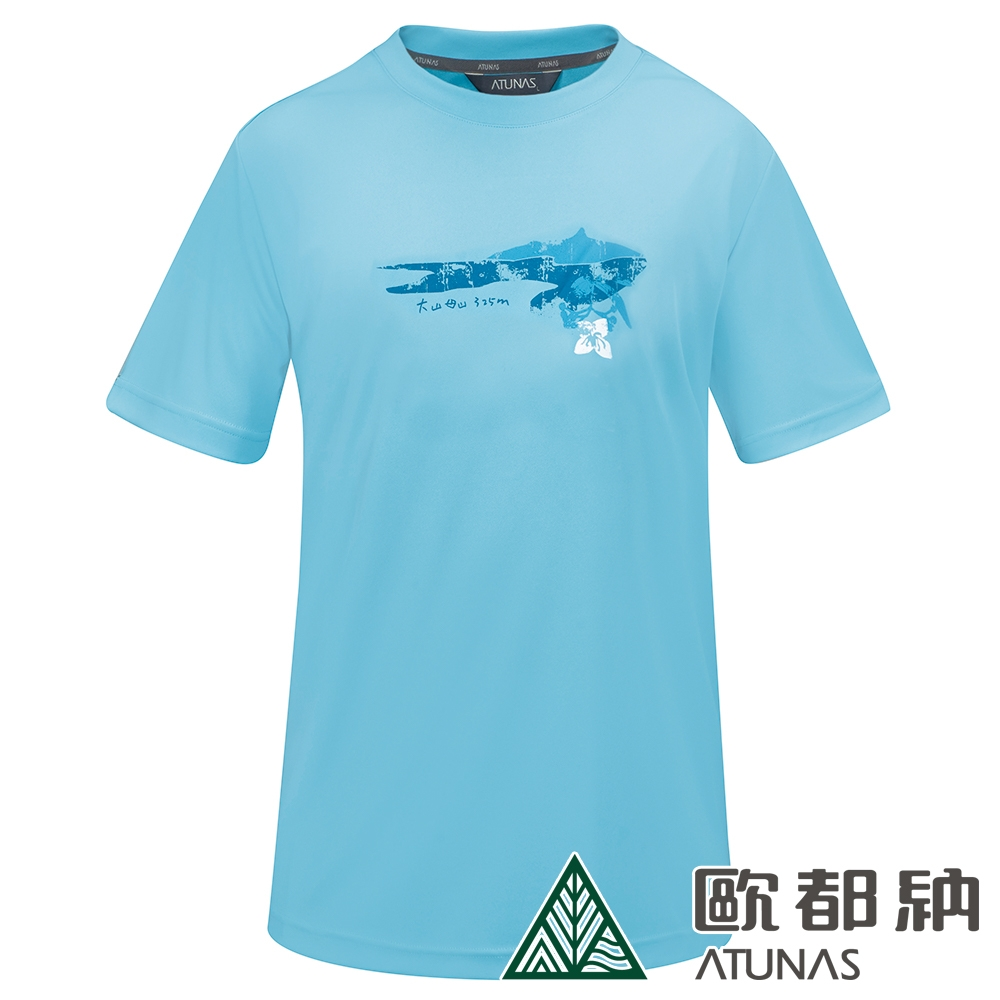【ATUNAS 歐都納】男款台灣七頂峰限定紀念衫短袖T恤A6-T1903M/吸溼排汗/防曬透氣/零碼出清