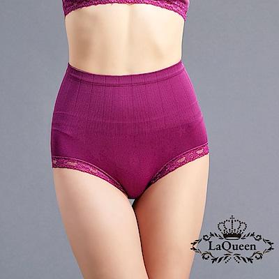 塑褲  一體成型收腹蠶絲塑褲-紫 La Queen