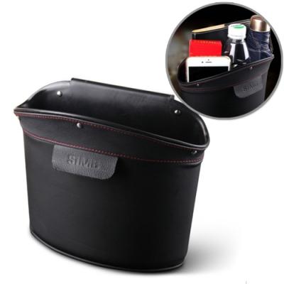 車用皮革收納盒 可掛式置物盒 汽車內掛式垃圾桶