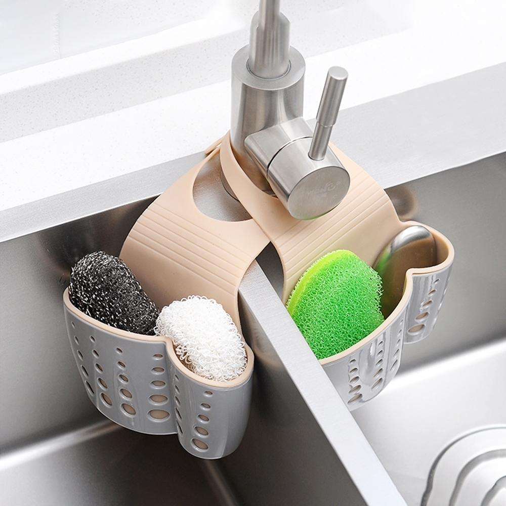【Cap】北歐風可掛式廚浴瀝水掛籃