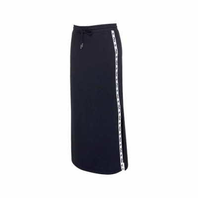 FILA #尬頑街潮 女針織長裙-黑色 5SKU-5447-BK
