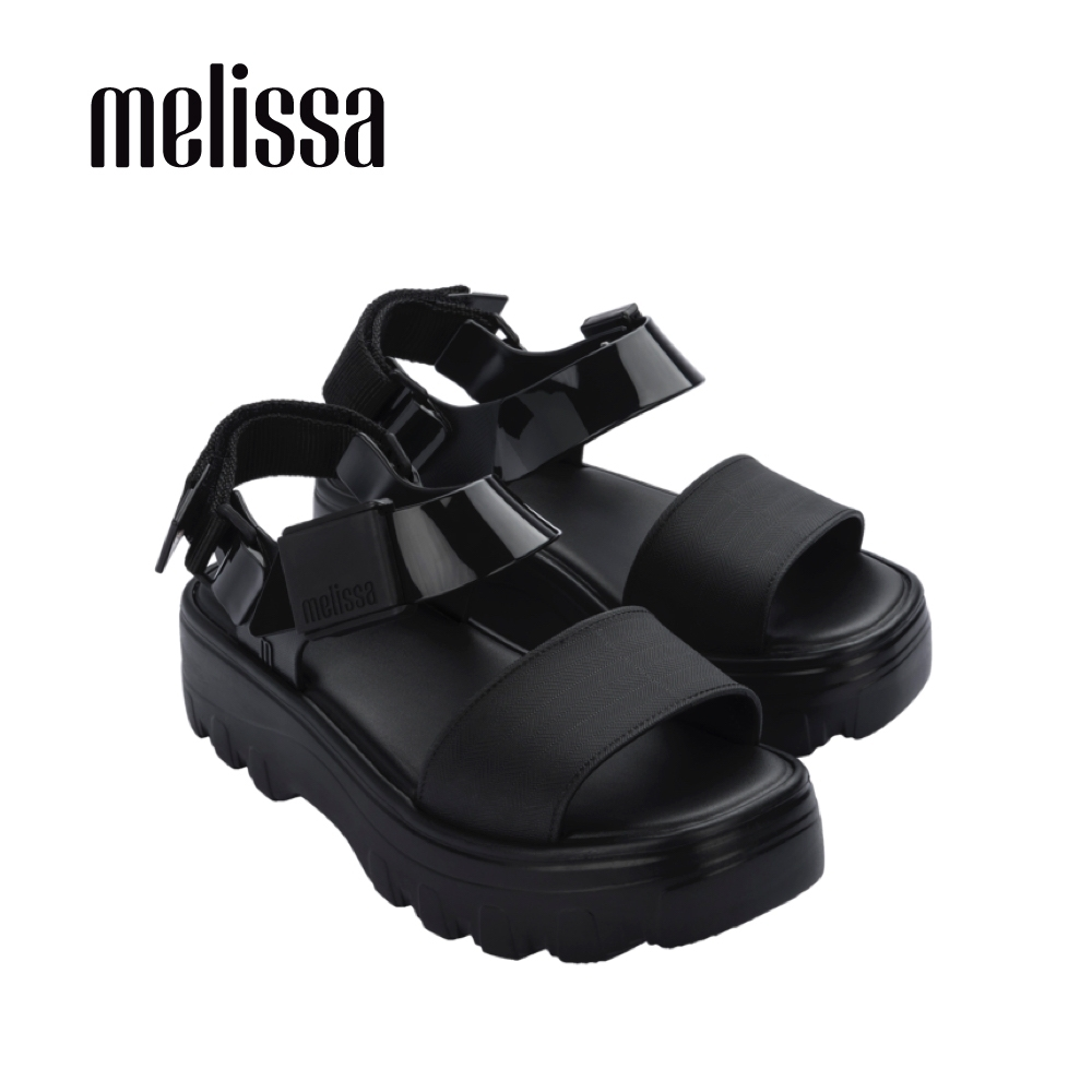 Melissa KICK OFF質感厚底涼鞋-黑 product image 1
