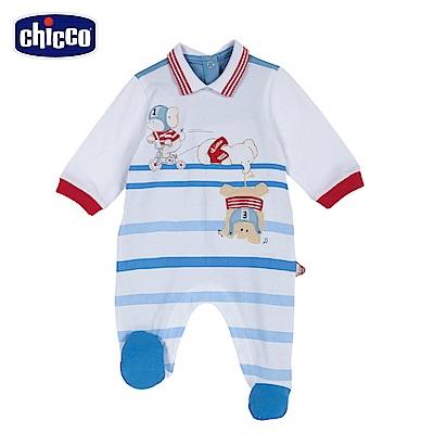 chicco-小象運動員-有領後開長袖兔裝