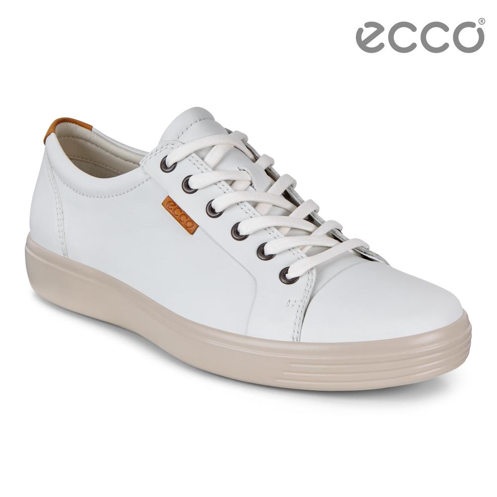 ECCO SOFT 7 M 經典輕巧休閒鞋 男 白