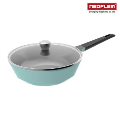 韓國NEOFLAM Carat系列 陶瓷不沾炒鍋30cm+玻璃蓋(鑽石鍋)