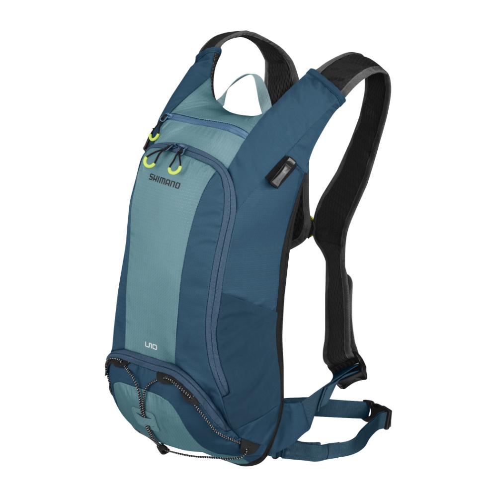 【SHIMANO】UNZEN 10L 自行車水袋背包 愛琴海藍