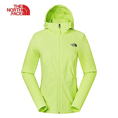 The North Face北面女款螢光綠色防潑水透氣外套|3RL6ET7