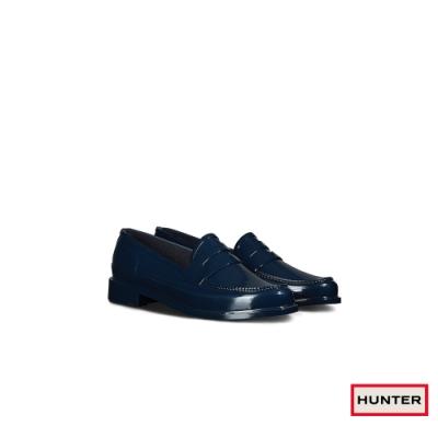 HUNTER - 男鞋-Refined亮面樂福休閒鞋 - 海軍藍