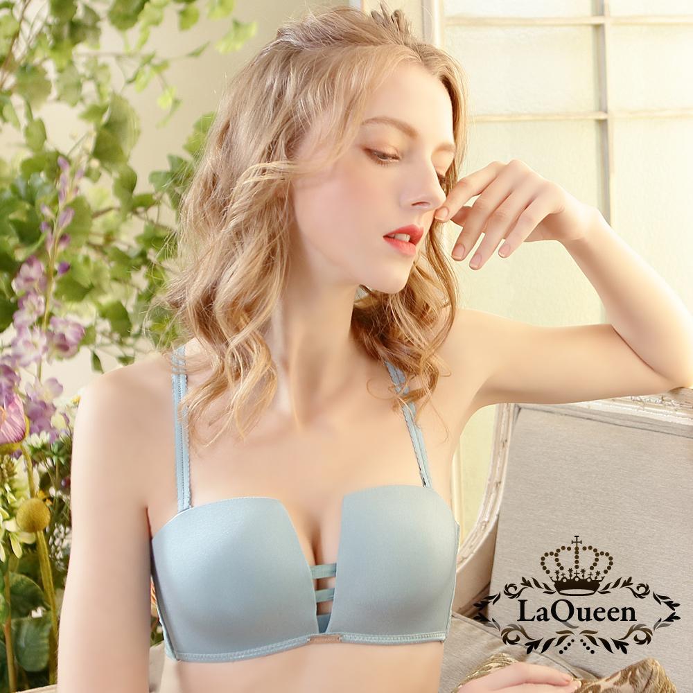 內衣 美型極致深溝無鋼圈內衣_綠   La Queen @ Y!購物