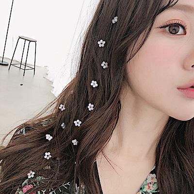 Hera赫拉 小清新水晶花朵隱形髮片(3色)