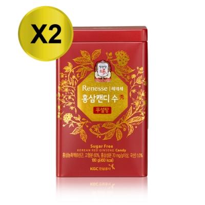 正官庄 高麗蔘無糖糖果180gx2盒