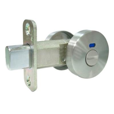 LS-S-4-SN 日規 浴廁補助鎖 白鐵色 60mm 無鑰匙 輔助鎖 浴廁門 防盜鎖
