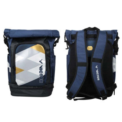 VICTOR 2020奧運系列後背包-LTD 限定 上卷式 訓練 雙肩包 旅行包 BR3021LTDAB 丈青黑灰金