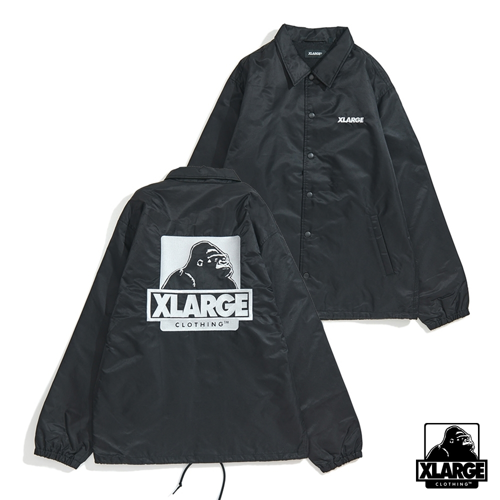 XLARGE EMBROIDERY OG COACHES JACKET防風外套-黑