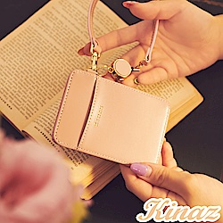 KINAZ 伸縮手挽帶好收納票卡夾-粉嫩紅魔法-小物魔法系列
