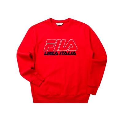 FILA #LINEA ITALIA 長袖圓領T恤-紅色 1TET-5435-RD