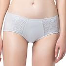 思薇爾 花蔓系列M-XL蕾絲低腰平口內褲(汽泡灰)