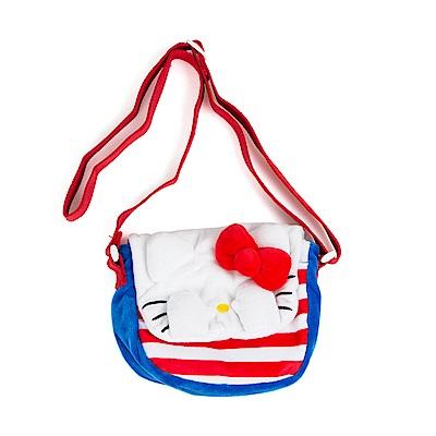 Sanrio HELLO KITTY躲貓貓造型小童用迷你絨毛斜背包
