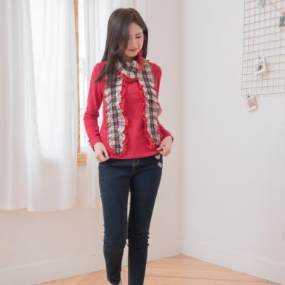 【Kinloch Anderson金安德森女裝】配領巾長袖上衣 紅