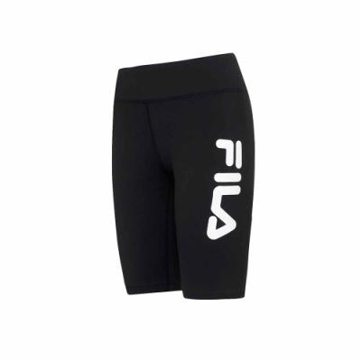 FILA 女抗UV吸濕排汗合身短褲-黑 5SHU-5313-BK