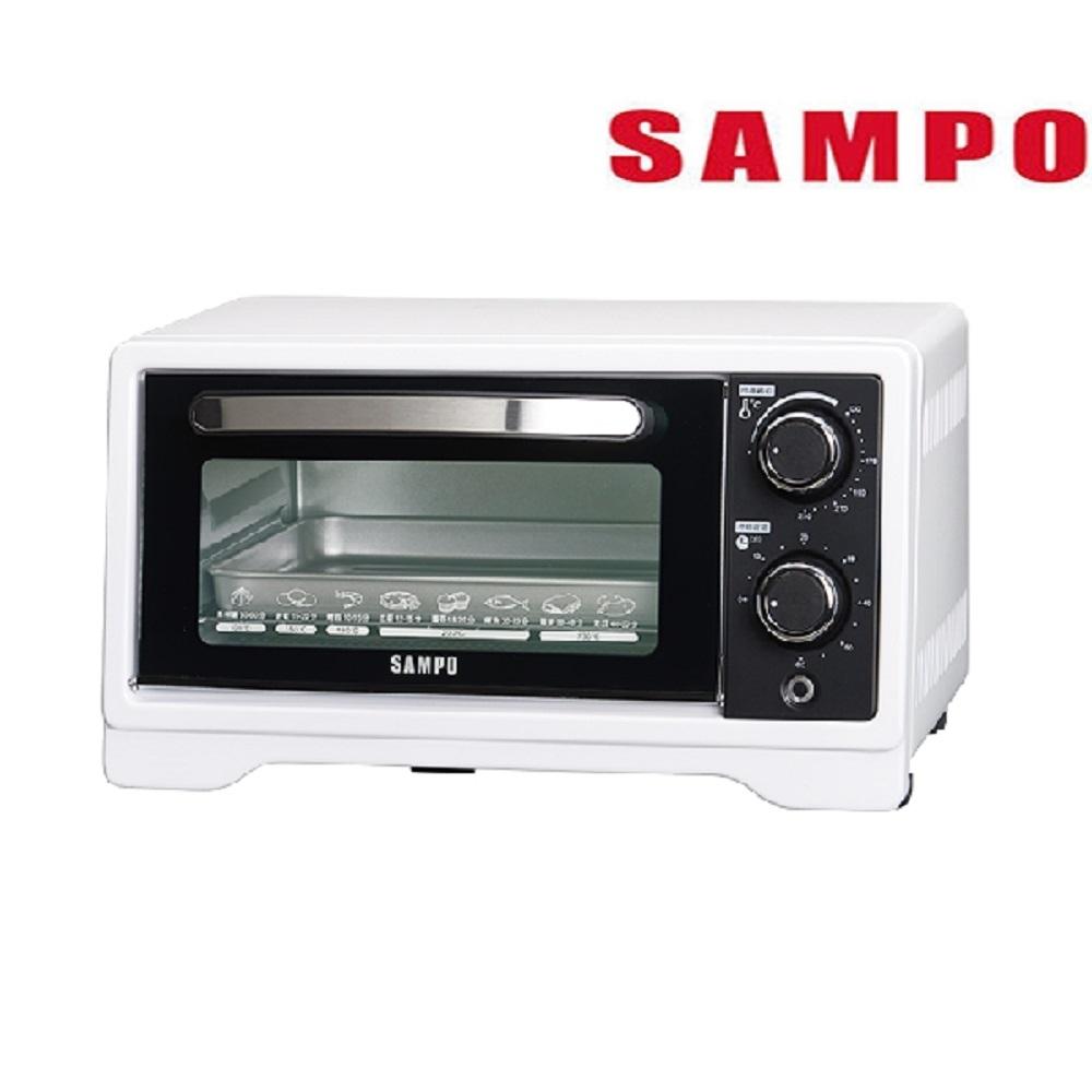 (快速到貨)SAMPO 聲寶 9L旋鈕式定時溫控烘烤電烤箱 KZ-XF09-