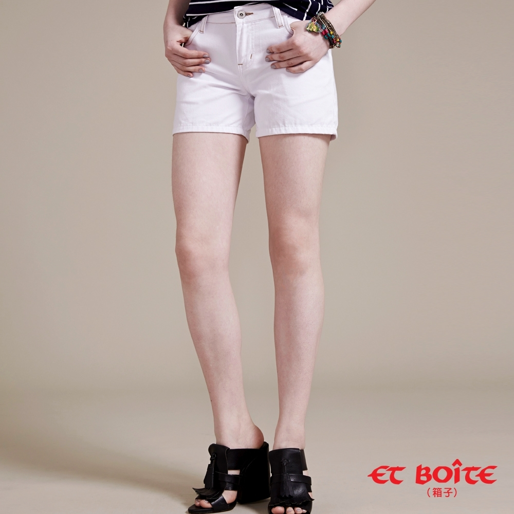 ET BOiTE 箱子 –簡約白色短褲
