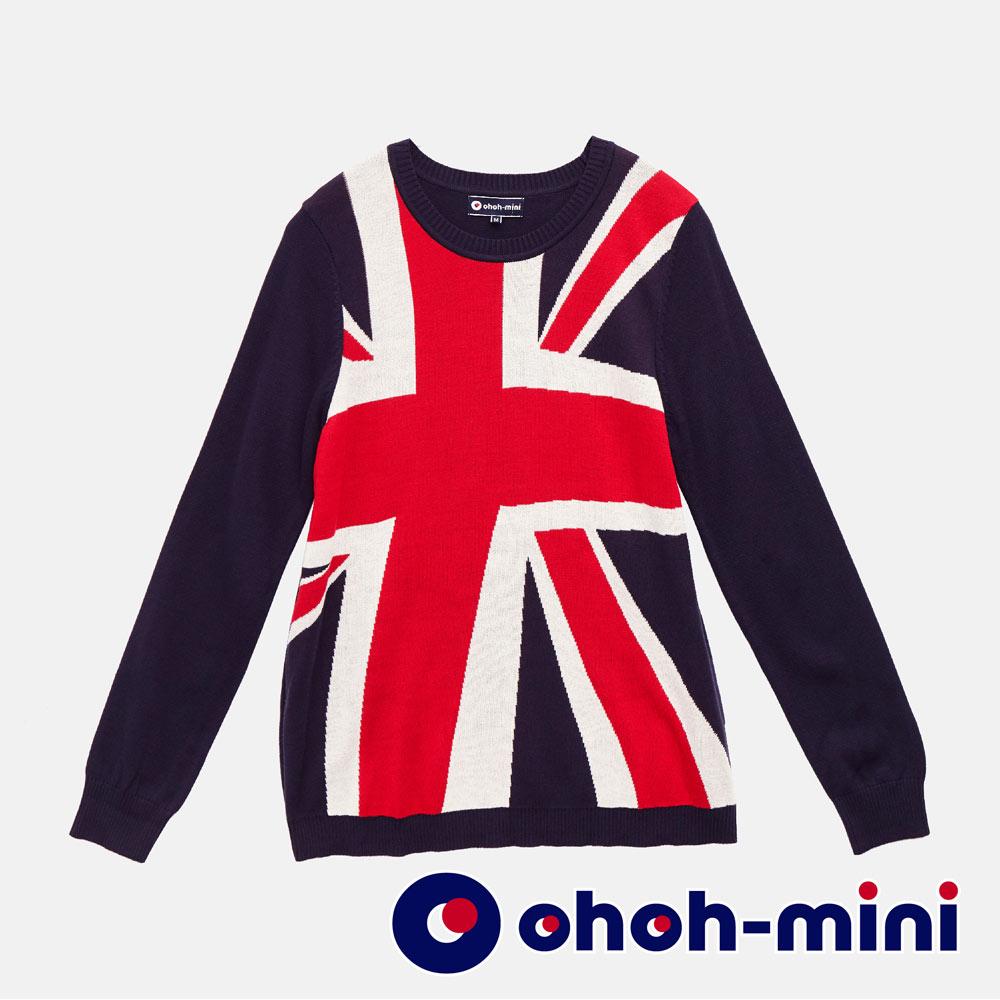 【ohoh-mini 孕婦裝】英式國旗風格針織孕婦上衣
