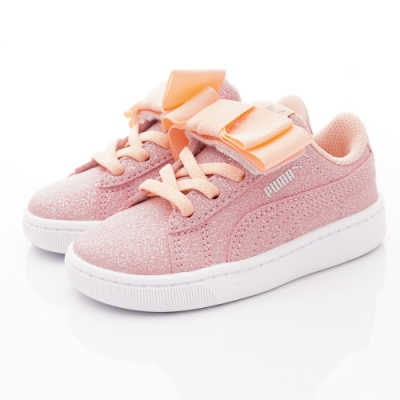 PUMA童鞋 緞帶閃耀休閒鞋款 TH70635-02粉(小童段)