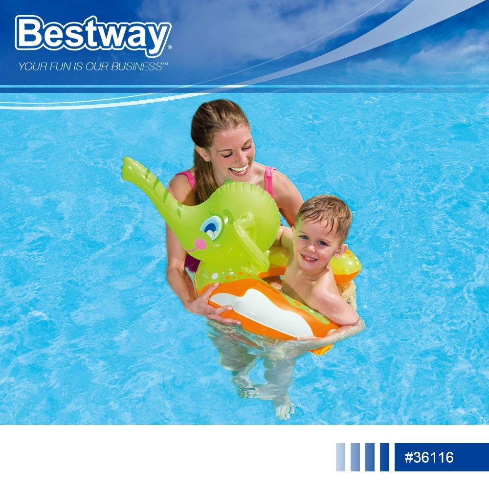 Bestway 36116小象造型充氣噴水游泳圈.夏日酷暑海邊泳池戲水親子休閒娛樂